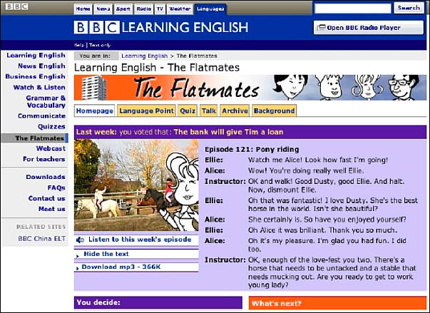 worldservice learningenglish flatmates episode languagepoint