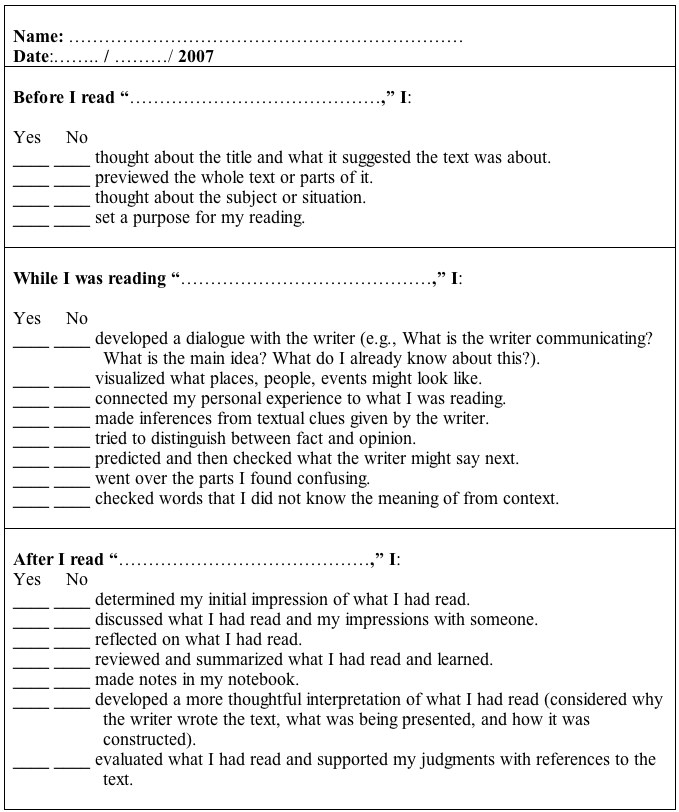 Teacher Self Evaluation Form MondoS EslEfl World Student Self
